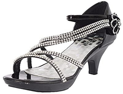Delicacy Angel-48 Dress Open Toe Pumps Shoes Women Black 7.5