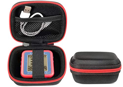 CaseSack Golf GPS Case for Bushnell Phontom Golf GPS, Neo Ghost Golf GPS, Garmin 010-01959-00 Approach G10, & Other Handheld GPS, More Room for Cable and Others (Black with Red Zip Contrasted)
