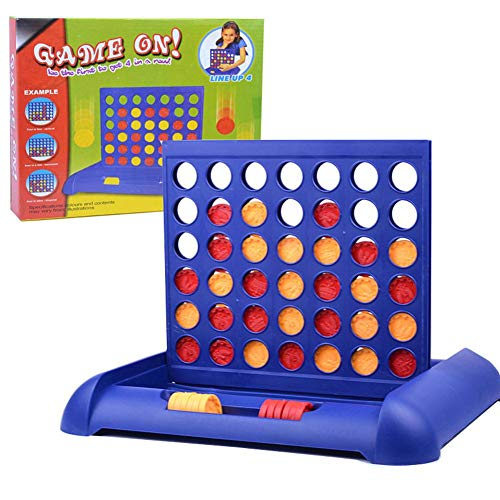 4 Gewinnt Strategiespiel Brettspiele Kinder Pädagogisches Spielzeug Rasterwand Vier in einer Reihe Klassisches Grid Board Geeignet für Kinder ab 5 Jahre