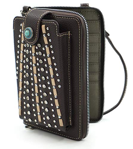 Montana West Crossbody Cell Phone Purse For Women Western Style Phone Bags Travel Size With Strap MWUSA-PHD-102CF