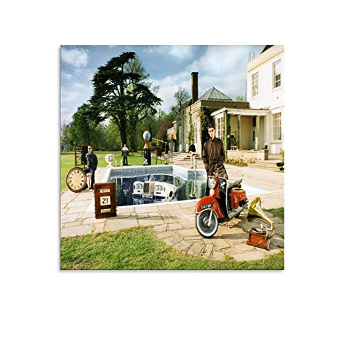 RHJJ Oasis Be Here Now - Poster su tela, motivo: Oasis Be Here Now (30 x 30 cm)