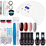 Gellen Gel Nail Polish Starter Kit with 24W Nail Dryer 4 Colors Base - Best Reviews Guide