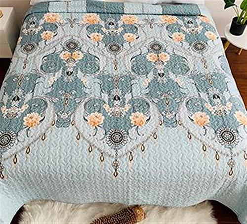 YYGQING Colcha de poliéster con estampado floral para cama individual, tamaño individual, Queen, tamaño completo, para verano (color: 6 Reino Unido, tamaño: 220 x 240 cm)