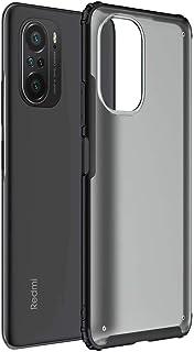 Soososケース対応Xiaomi Redmi K40 Proケースワイヤレス充電をサポート透明高密度TPU +透明PCバックカバー耐衝撃一体型ハイブリッド保護ケース【黒】