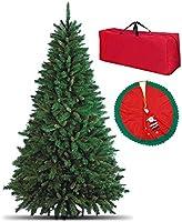 Albero di Natale artificiale, MOLTO FOLTO di ALTISSIMA QUALITA', effetto realistico, colore VERDE, rami a GANCIO per...
