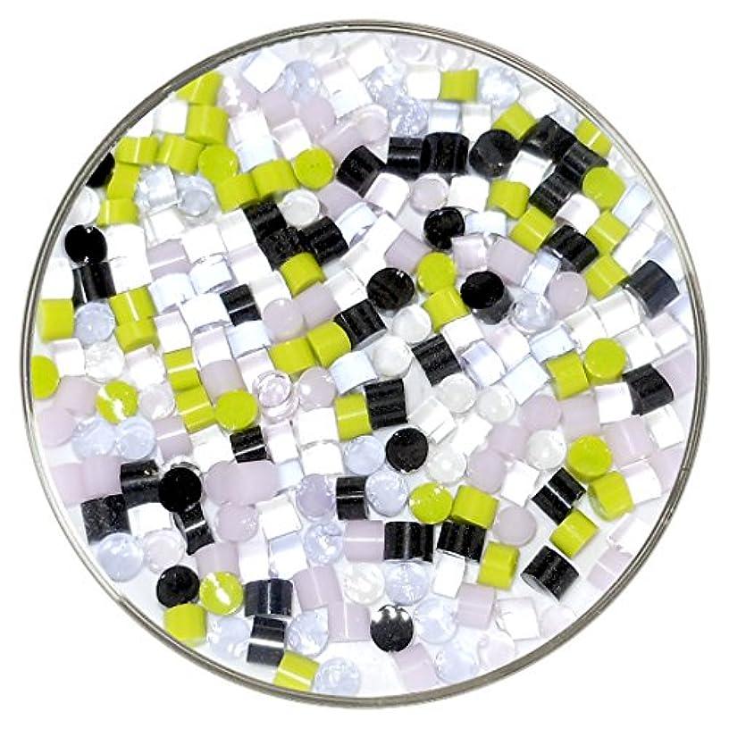 Cherry Blossom Designer Fusible Glass Dot Mix - 90COE - 1oz - Made From Bullseye Glass