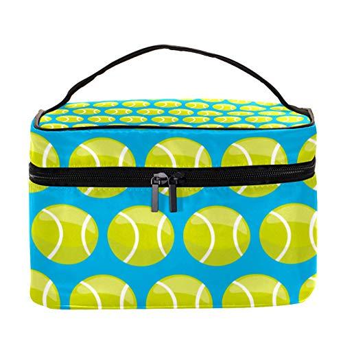 Bolsa de maquillaje de viaje/bolso de embrague/bolsa de cosméticos/bolsa de maquillaje/bolsa de tocador, pelota de tenis de dibujos animados