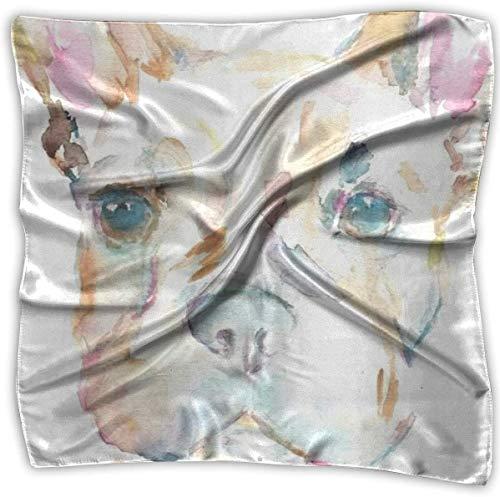 Sheep Taschentuch mit englischem Stier und Kunstdruck, Polyester, Einstecktuch Gr. M (100x100 cm), weiß