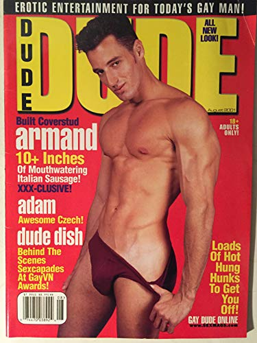 Dude Gay Adult Magazine August 2001 Built Coverstud Armand & Erotic Entertainment for Today's Gay Man!