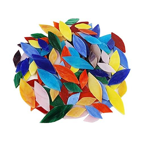 Colcolo 100 Piezas Opacas de Colores y tamaños de Mosaico de Vidrio para artesanías Piezas de vidrieras Coloridas Oferta de proyectos de Mosaico