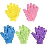 Bath Gloves,Shower Gloves Exfoliating Body Scrub Mitt Double Side para Hombres Mujer Niño...