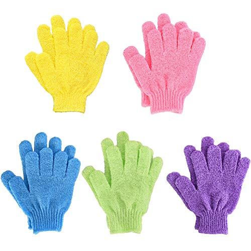 Bath Gloves,Shower Gloves Exfoliating Body Scrub Mitt Double Side para Hombres Mujer Niños 10 piezas