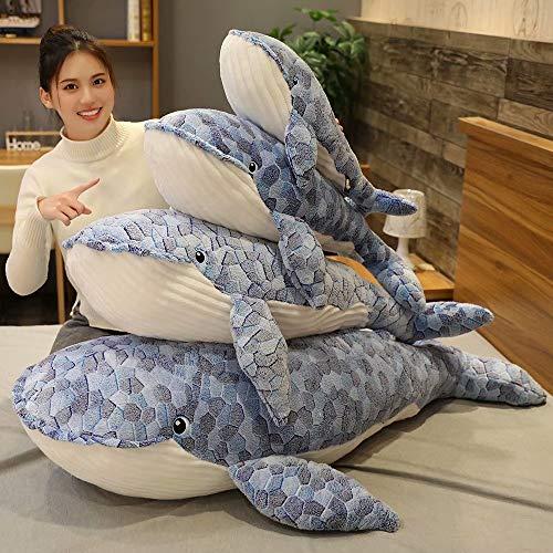 50-110cm tamaño Gigante Ballena de Peluche de Juguete Azul mar Animales de Peluche de Juguete tiburón abrazado Suave Moda Animal Almohada Regalo para niños 70cm