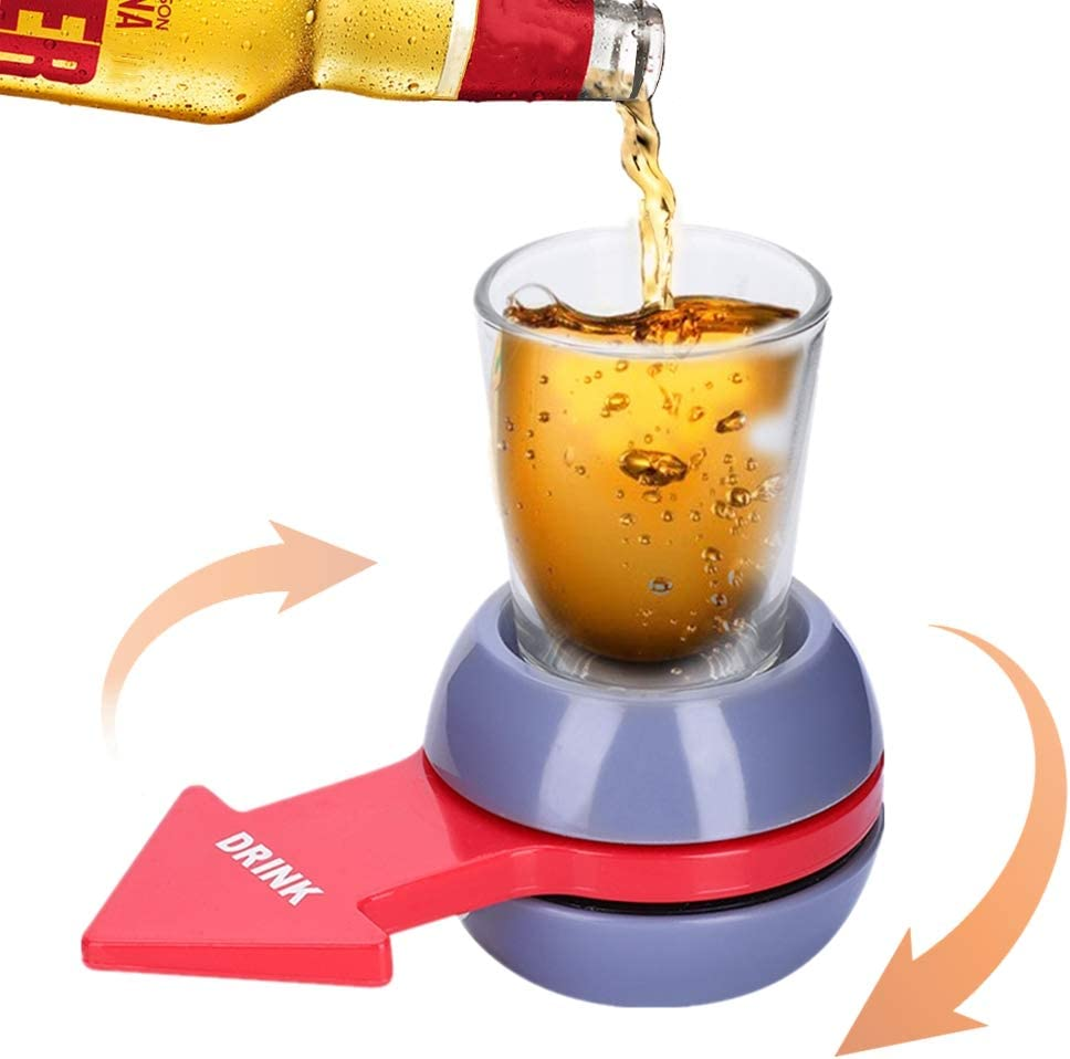 Arrow Rotate Arrow Pointer Turntable Shot Drink Entertainment Tool Drinking Games for Parties Spin Shot Glass Game