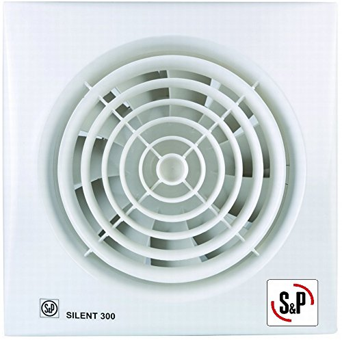 Soler & Palau; SILENT-300 CRZ; Extractor de baño ultrasilencioso + temporizador regulable, diam 150mm.