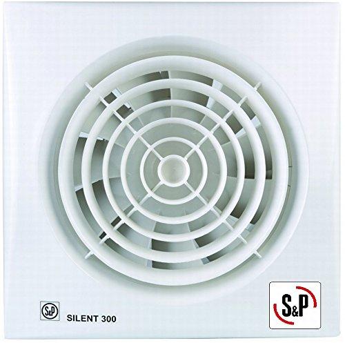 Soler & Palau; SILENT-300 CRZ; Extractor de baño ultrasilencioso + temporizador regulable, diam 150mm.