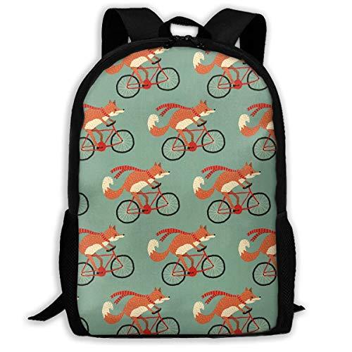 Hui-Shop Sac à Dos de Voyage Sac à Dos pour Ordinateur Portable Grand Sac à Couches - Riding Fox Backpack School Backpack pour Femmes et Hommes