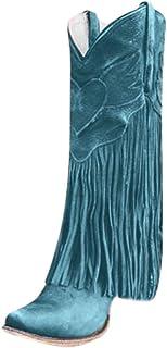 Xmiral Stivali Donna Scarpe da Moda Autunno Inverno Pelle Casual Lunghi Stivali Tacchi Alti Slip On con Nappa…