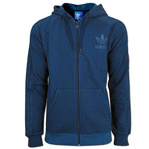 adidas Originals SPO Trefoil Kapuzenjacke für Herren, mit durchgehendem Reißverschluss Gr. S, navy
