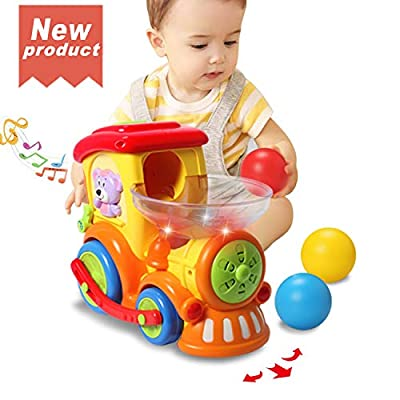 ACTRINIC Baby Toy 12-18 Months,Early Educational Electric Train with Chasing Balls,Light/Talking/Music/Universal Moving Wheel,Best Gift Toys for 1 2 3 4 Years Old Boys Girls Toddler Kids Toys from ACTRINIC