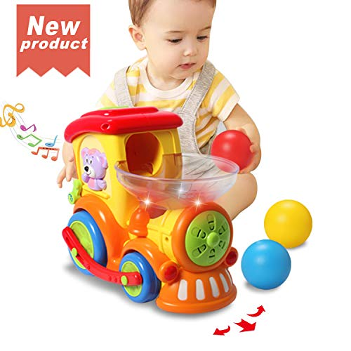 ACTRINIC Baby Toy 12-18 Months,Early Educational Electric Train with Chasing Balls,Light/Talking/Music/Universal Moving Wheel,Best Gift Toys for 1 2 3 4 Years Old Boys Girls Toddler Kids Toys