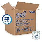 Scott Essential Professional Bulk Toilet Paper for Business (13607), Individually Wrapped Standard Rolls, 2-PLY, White, 20 Rolls / Convenience Case, 550 Sheets / Roll