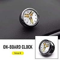車のダッシュクロックミニ自動車内部スティックオンデジタル腕時計自動装飾装飾空気出口バスケットボールスポーツルミナス、こちらから:中国、色名:Black (Color : 白い)