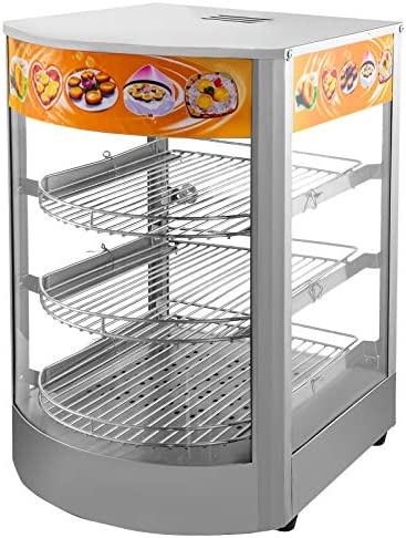 VEVOR 110V 25 Inch Commercial Pizza Warmer Display 3 Tier 1000W Electric Food Warmer Display product image