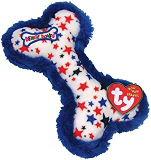 Bow Wow Beanies - RED, WHITE & BLUE STARS the Bone (with Blue Trim)