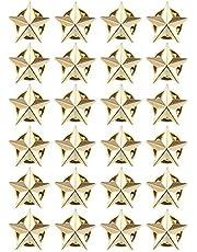 Mialang, 24 pezzi 5 punti stella distintivo oro spilla da bavero costume distintivo decorazioni per feste (1,6 cm)