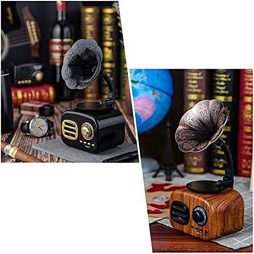Altavoz Bluetooth Retro Phonograph Jukebox Vintage Radio Estéreo Inalámbrico con Bluetooth 4.1 Mini Altavoz Bluetooth Portátil Hd Surround Estéreo-Marrón