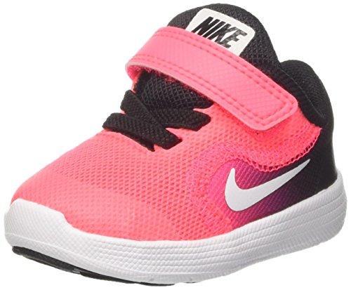 Nike Revolution 3 Gtv, Sneakers Fille, Multicolore (Black/White/Racer Pink), 23.5 EU