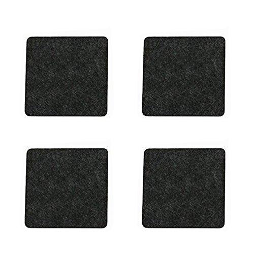 Oblique-Unique Lot de 4 Feutre carré – Dessous-de-Verre en Gris foncé Noble