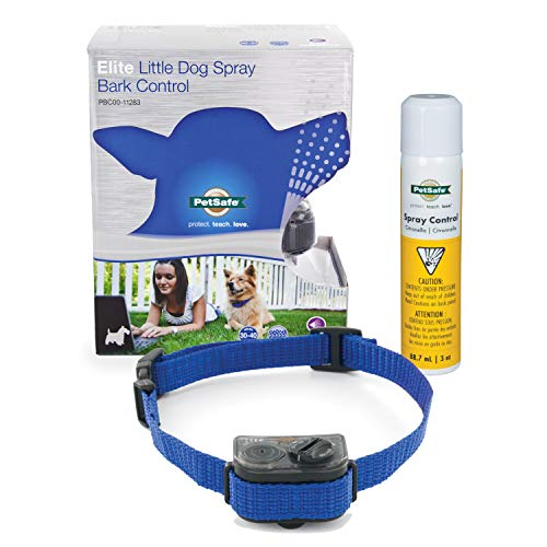 PetSafe Elite Little Dog Spray Bark Control for Small Dogs from 8 to 55lbs, Citronella Spray, Anti-Bark Device - PBC00-11283,black/red/blue/green,adjustable