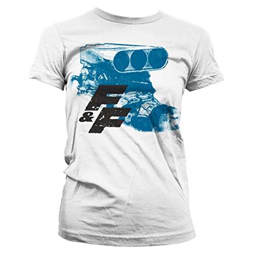 Fast & Furious Engine Official Women T-Shirt (White), Medium
