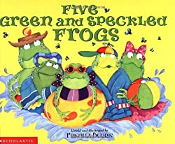 five green and speckled frogs - subtraction strategies book