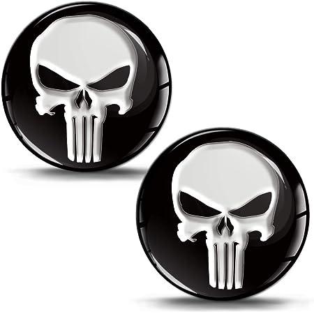 Skinoeu 2 X Schalthebel Aufkleber Schaltknauf Emblem Silikon Stickers The Punisher Durchmesser 30mm Auto Moto Zubehör Motorrad Tuning Jdm Ks 1 Auto
