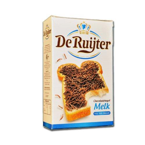 18 X De Ruijter Chocoladehagel Melk - Milch Schokoladen Streusel 400g