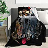 Horror Movies Flannel Fleece Blanket Lightweight Super Soft Warm Cozy Luxury Throw Blanket Home Decor for Couch, Bed, Sofa, Travel 50' X40