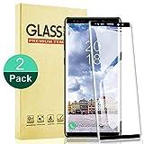 RIIMUHIR Vidrio Templado de 2 Piezas para Samsung Galaxy Note 9, Protector de Pantalla Dureza 9H, Sin Burbujas, Antihuellas, Anti-Aceite, Ultra-Claridad, Transparente