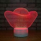 Lingote de oro Modelado Lámpara de ilusión 3D LED Luz de noche 3D 7 colores que cambian con control remoto con cable USB para Navidad Cumpleaños Regalos para niños Decoración del dormitorio Dec