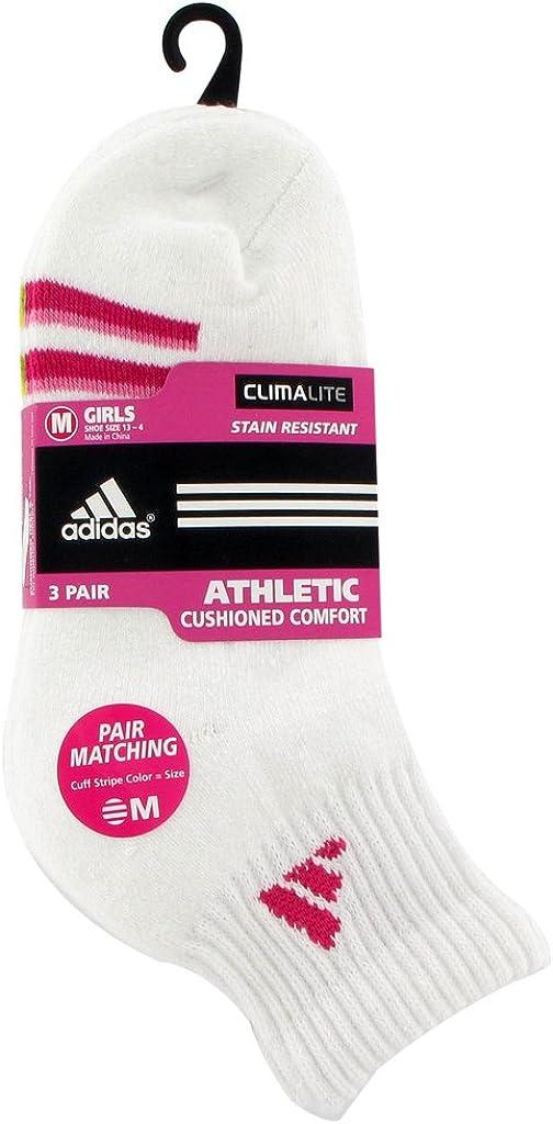 adidas Girl's Cushion Quarter Socks (3-Pair)
