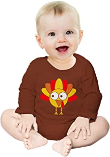 Little Turkey Thanksgiving Holiday Very Cute Baby Long Sleeve Bodysuit