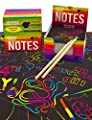 Purple Ladybug Rainbow Scratch Off Mini Art Notes 2 Wooden Stylus Set: 150 Sheets of Rainbow Scratch Paper for Kids Arts and Crafts, Airplane or Car Travel Toys - Fun Gift for Girls, Women or Anyone by Purple Ladybug Novelty