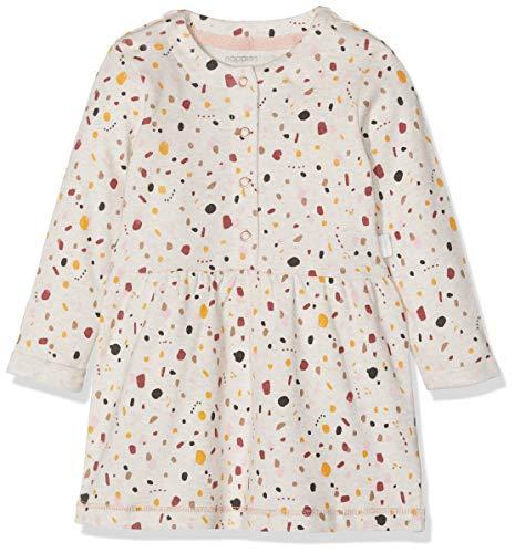 Noppies Baby-Mädchen G Dress ls Conneaut AOP Kleid, Mehrfarbig (Whisper White Melange P202), (Herstellergröße: 86)
