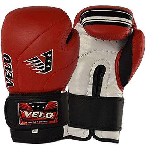 VELO Leder-Boxhandschuhe, Muay Thai, Training, professionelles Sparring, Boxsack, Kickboxen, Kämpfe, matt glänzend, 400 ml
