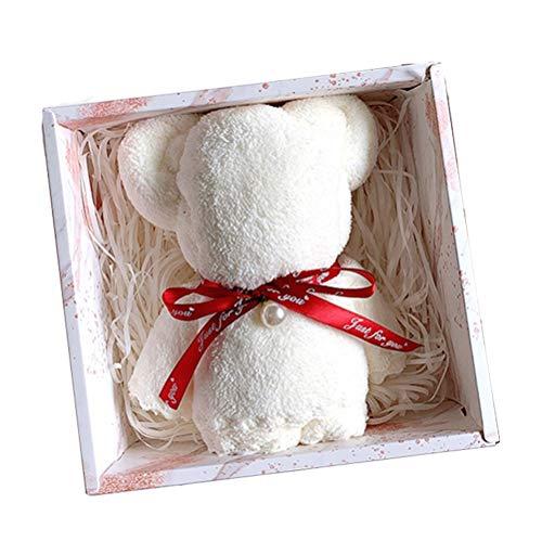 Roexboz Toallas de oso con caja de regalo para bebé, toalla de estilismo altamente absorbente.