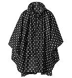素材: 100%EVA素材を採用され、表面と縫い目には撥水加工で、防水防風に優れている。 サイズ:前丈92cm、後丈102cm、袖丈62cm、バスト120cm。適応身長:150〜175cm男女兼用。 軽量:全体は321gで、女性にも負担にならない。 収納袋付き:収納袋にすると、とてもコンパクトなので、持ち運びやすい。 場合:おしゃれなデザインで、散歩、通勤通学、スポーツ観戦など様々な場合に適用できる。梅雨対策にも最適。