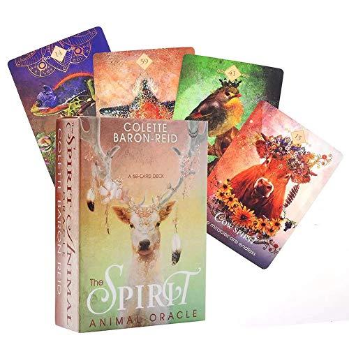 68PCS Tarot Cards For The Spirit Animal Oracle Adivination Fate Tarot Deck Friends Playing Family Party Entretenimiento Juego de Mesa Tarjetas de Regalo