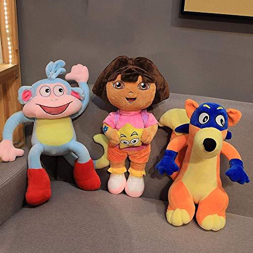 NC56 Echte Dora The Explorer Stiefel Swiper Cartoon Plüsch Weiche Gefüllte Puppe Kinder Spielzeug Kinder Geburtstagsgeschenk 25cm 3St